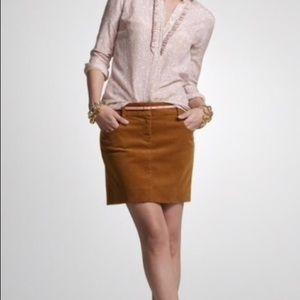 J Crew Corduroy Pencil Skirt